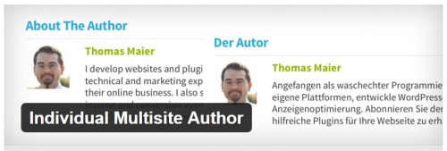 Individual Multisite Author