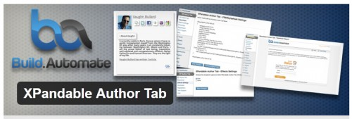 XPandable Author Tab