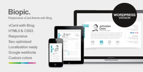 Biopic - Responsive vCard WordPress Theme