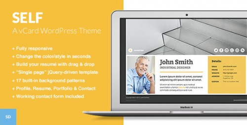 Self - A Responsive vCard WordPress Theme