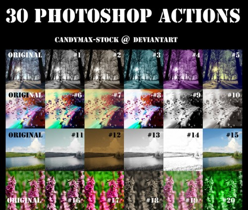 30 Awesome Photoshop Actions