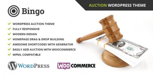 Bingo - Auction WordPress Theme