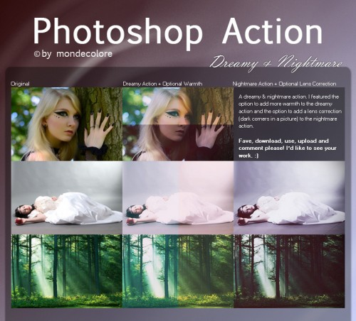 Dreamy and Nightmare Photoshop Action