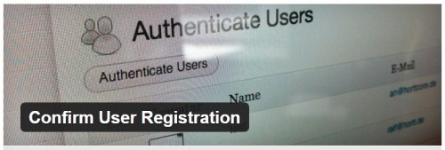 Confirm User Registration