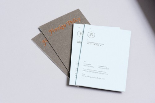Foreign Policy Business Cards