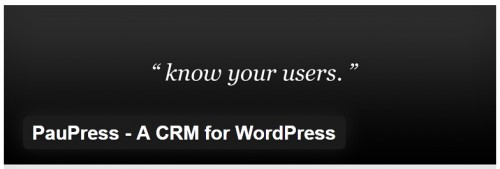 PauPress - A CRM for WordPress