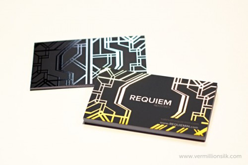 Requiem Foil Stamped Silk Business Cards