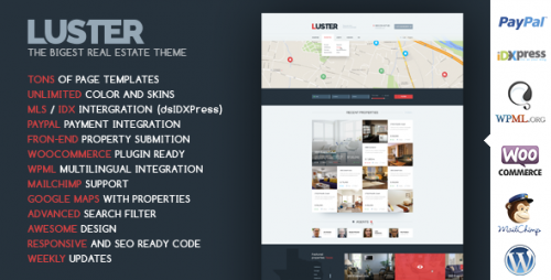 Luster - Real Estate WordPress Theme