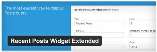 Recent Posts Widget Extended