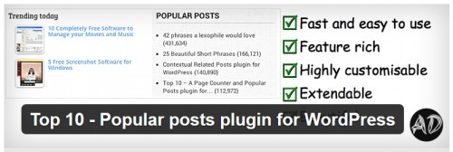 Top 10 - Popular Posts Plugin