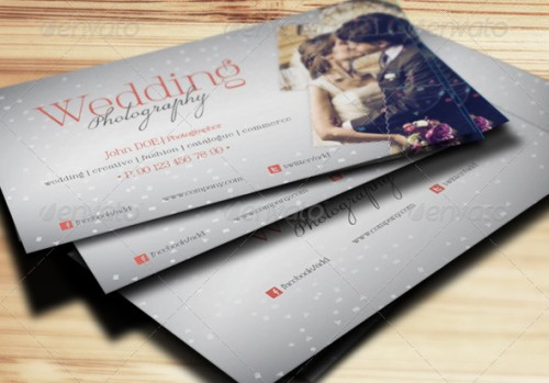 A list of exceptional photography business card templates for Wedding photography business cards