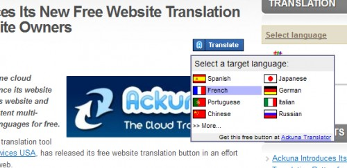 Ackuna Blog Translator