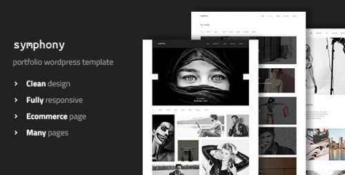 Symphony - Clean Photography WordPress Theme