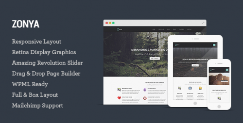 Zonya - Multipurpose Responsive WordPress Theme