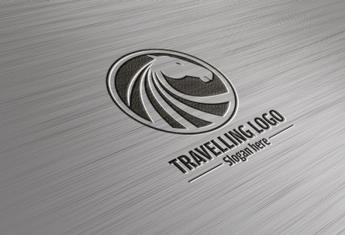 Free Steel Logo Mock-up PSD