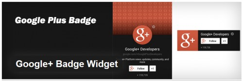 Google+ Badge Widget