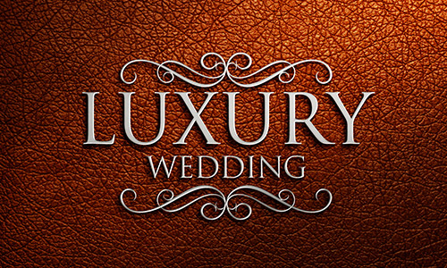 Luxury Wedding Logo Mockup