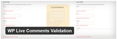 WP Live Comments Validation