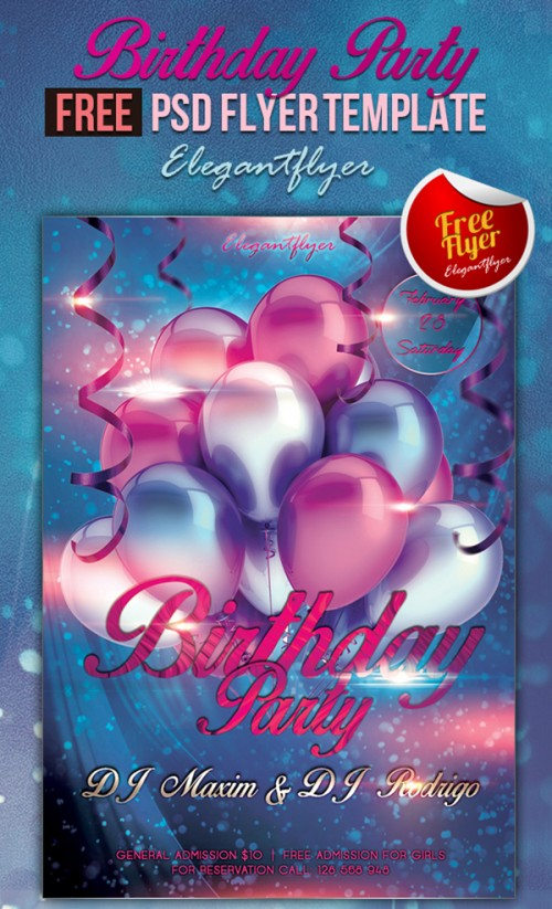 Birthday Party - Club and Party Free Flyer
