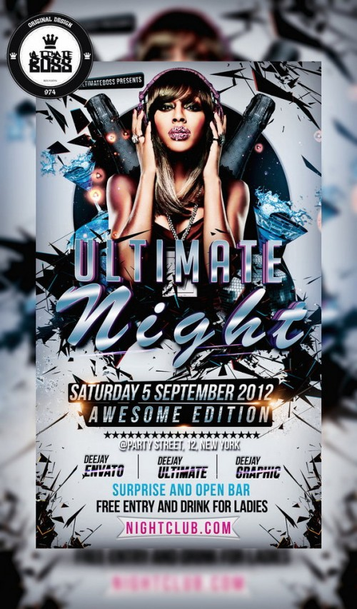 Free PSD Ultimate Night Flyer Template