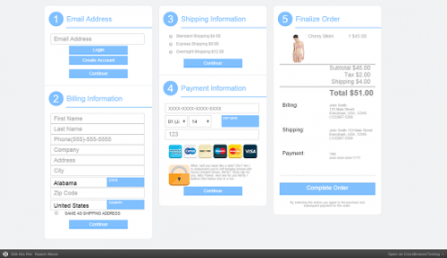 Column Checkout Style Form