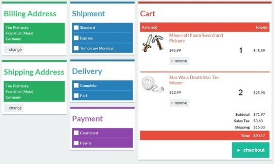 8 High Quality Free HTML5 CSS3 Checkout Forms